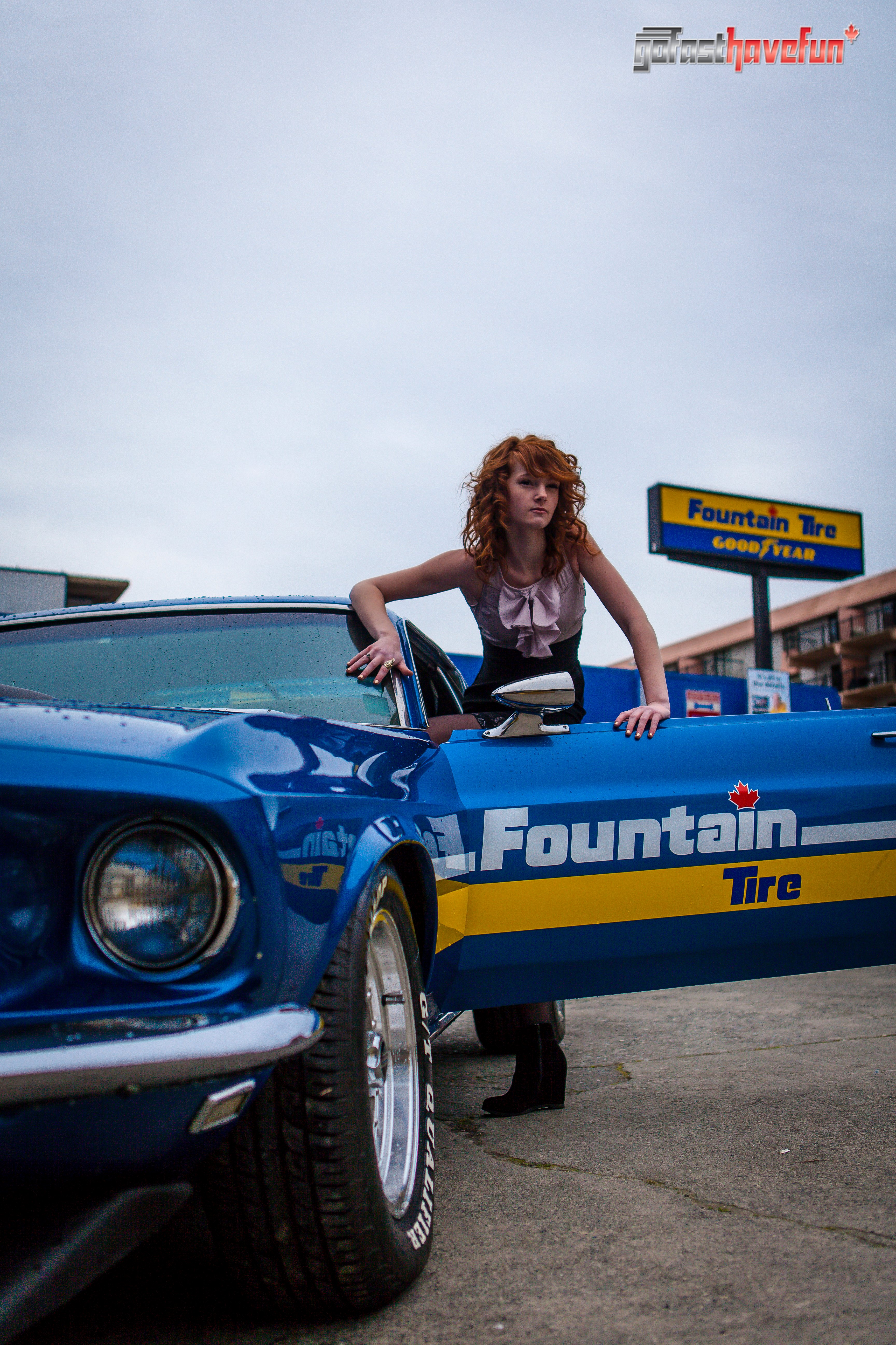 Go Fast have Fun Mustang Girl