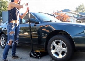 How to change a tire with Laura HD