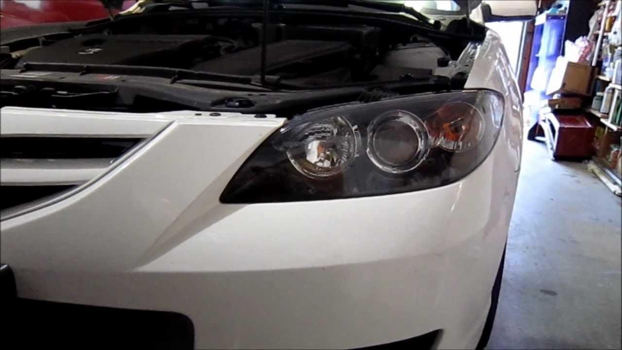 Mazda 3 2007 Headlight Bulb Replacement Go Fast Have Fun