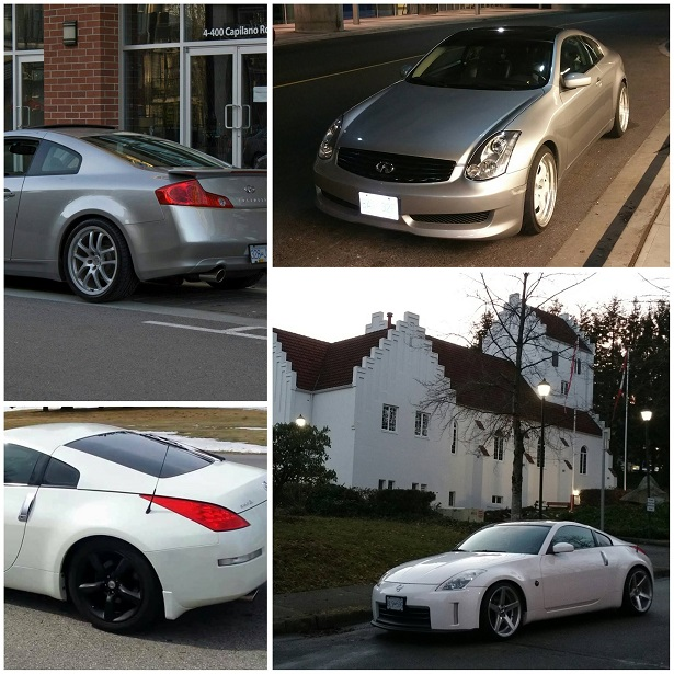 Go Fast have Fun 350Z G35 collage